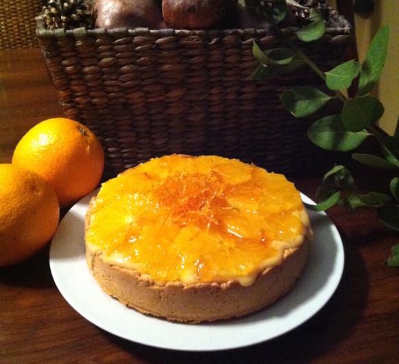 Tarta de Naranja Confitada y crema